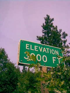 Elevation 3000 Feet!