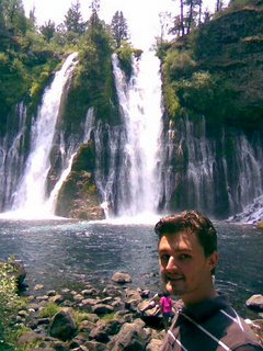 Nathaniel Burnett at Burney Falls
