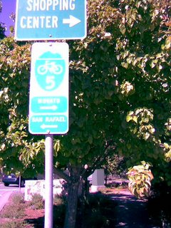 Bike Trail Sign in Novato