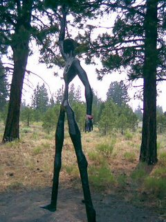 Living Memorial Sculpture Garden, Peaceful Warrior, Highway 97